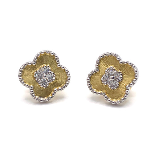 Clover Center Clover Vermeil Stud Earrings