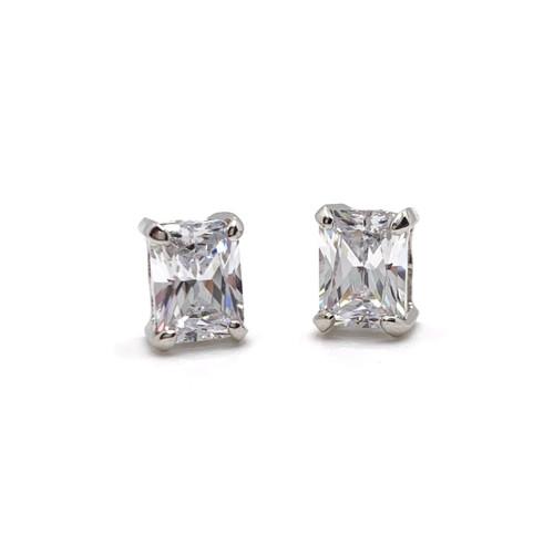 2ct Radiant Cut Simulated Diamond Stud Earrings