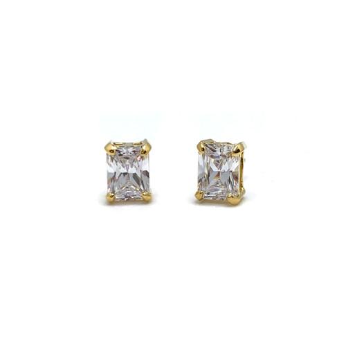 2ct Radiant Cut Simulated Diamond Vermeil Stud Earrings