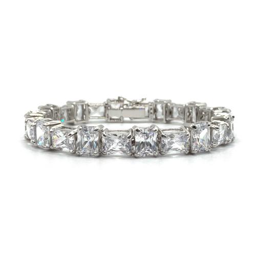 Statement Radiant-cut Simulated Diamond Tennis Bracelet
