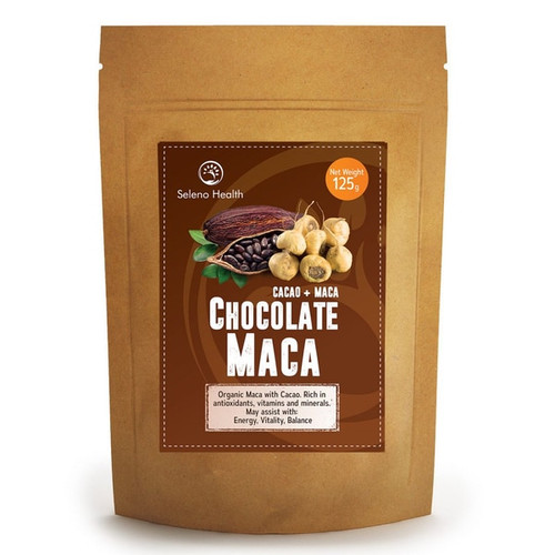 Organic Activated Chocolate Maca (Gelatinised) – Superfood 125g NZ