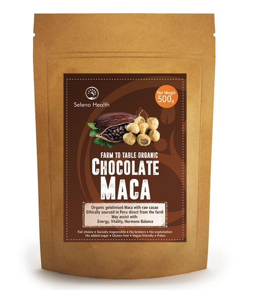 Organic Activated Chocolate Maca (Gelatinised) – Superfood 500g