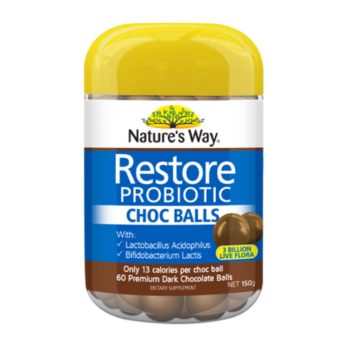 Nature's Way Probiotic Choc Balls 60 NZ