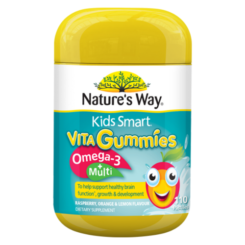 Nature's Way Kids Smart Vita Gummies Omega 3 + Multi NZ