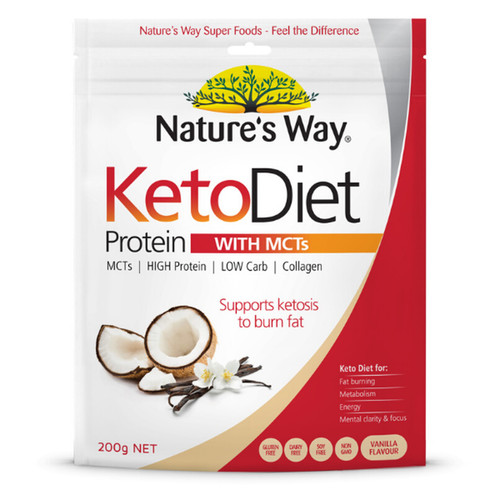 Natures's Way NZ Keto Diet Protein Powder with MCTs - 200gm