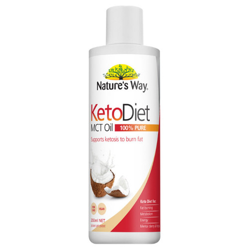 Nature's Way NZ Keto Diet MCT Oil (100% Pure) - 250ml