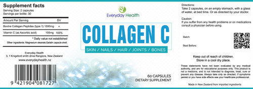 Collagen C Supplement facts NZ