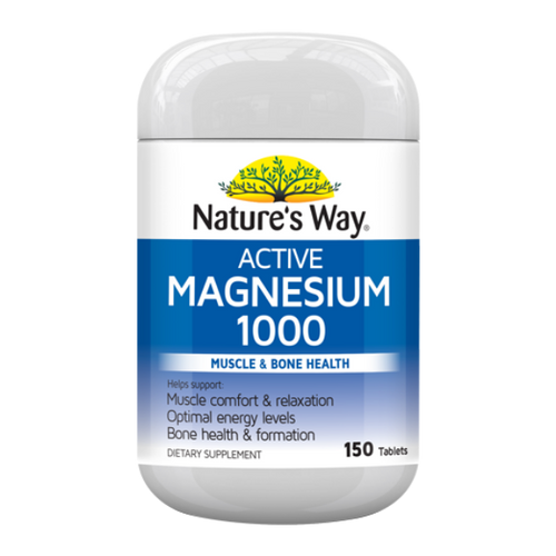 Nature's Way Active Magnesium 1000mg 150 Tablets NZ