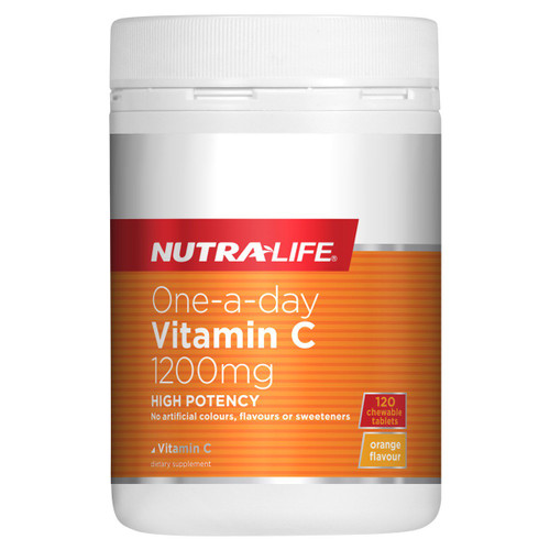 Nutra-Life One-a-Day Vitamin C 1200mg- 120 Chewable Tablets NZ