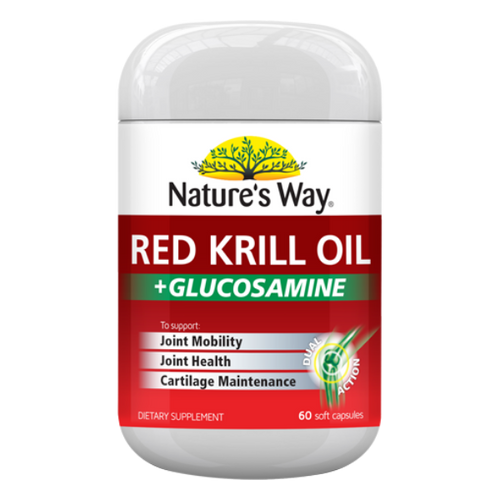 Nature's Way Red Krill Oil + Glucosamine NZ