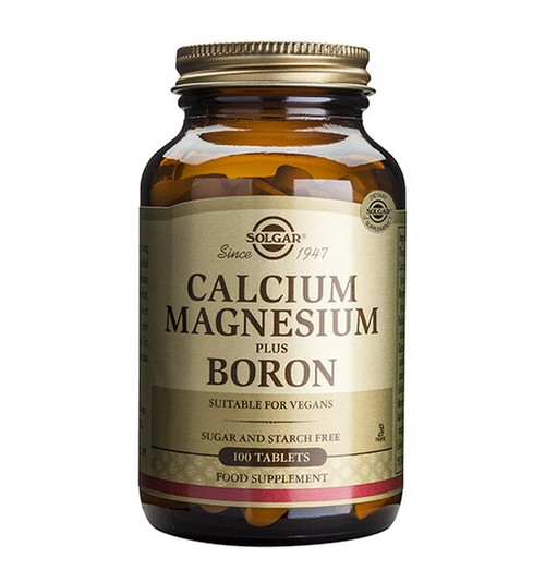 Solgar Calcium Magnesium Plus Boron 100 Tablets NZ