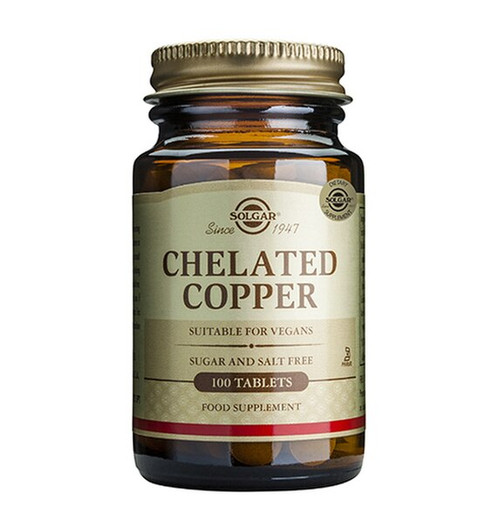 Solgar Chelated Copper 100 Tablets NZ