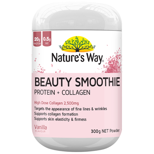 NZ Natures way Beauty Smoothie-300g protein and collagen NZ