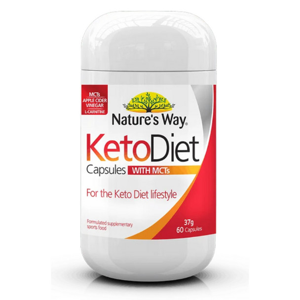 Nature's Way NZ Keto Diet Capsules with MCTs - 60 Capsules
