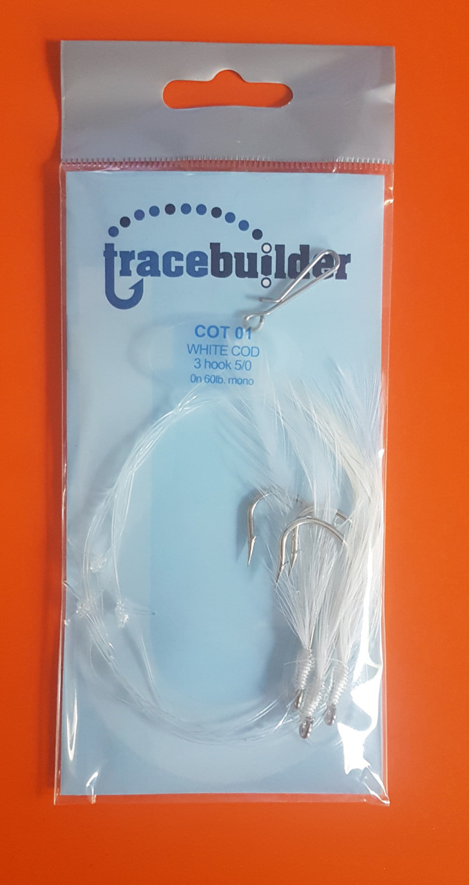 Tracebuilder FTD 3 Hook White Feather Cod Rig