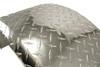32x9 Single Axle Aluminum Tread Plate Trailer Fender diamond plate close-up