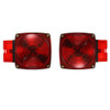 """Trailer Brake Light Kit Square Standard (Lights, Mounting) [Over 80"""" wide - (4 wire setups)] - non submersible"""