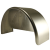 32x10-3/4 Single Axle Aluminum Trailer Fender w/ Back Plate Welded In - One Fender
