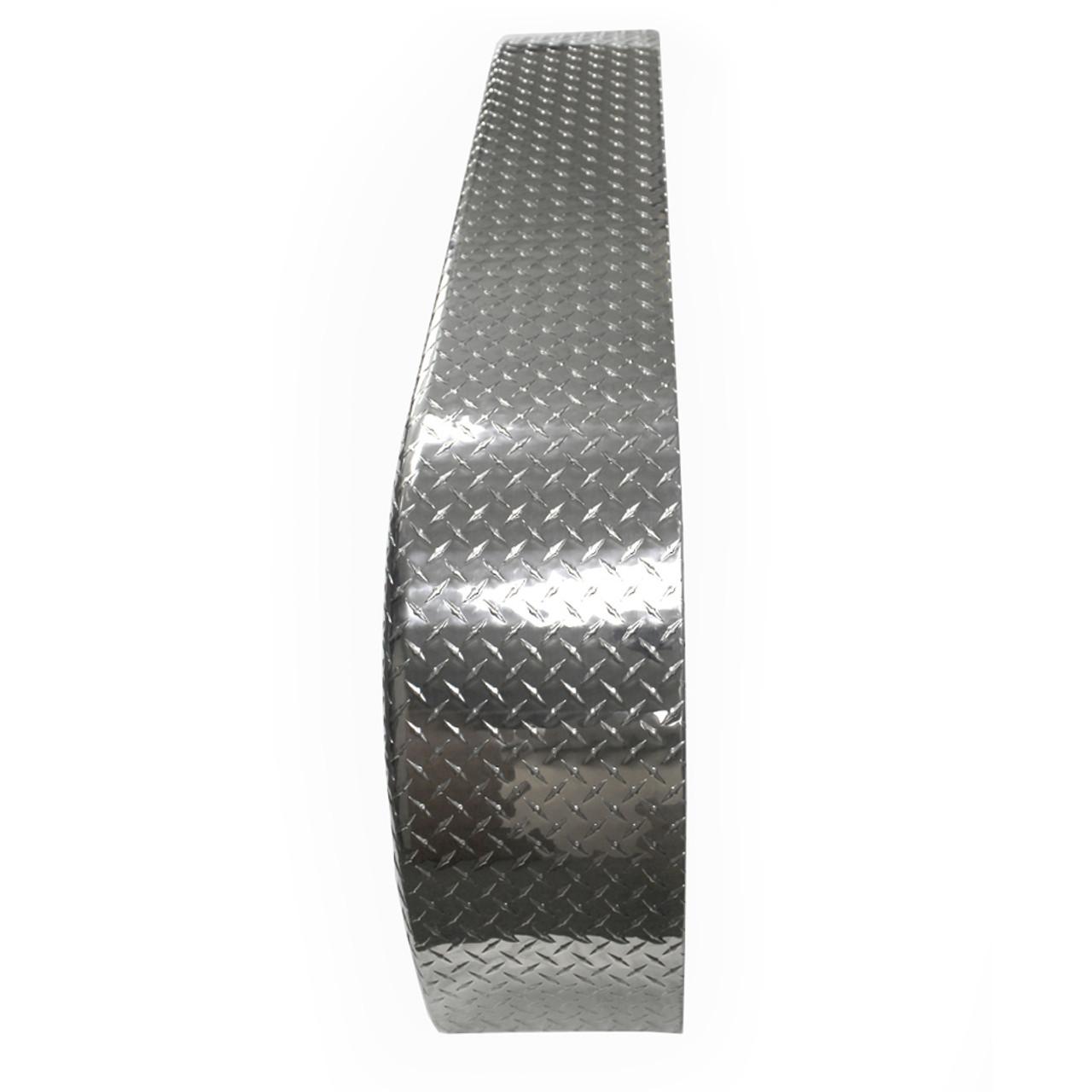72x9 Tandem Axle Aluminum Tread Plate Trailer Fender top view