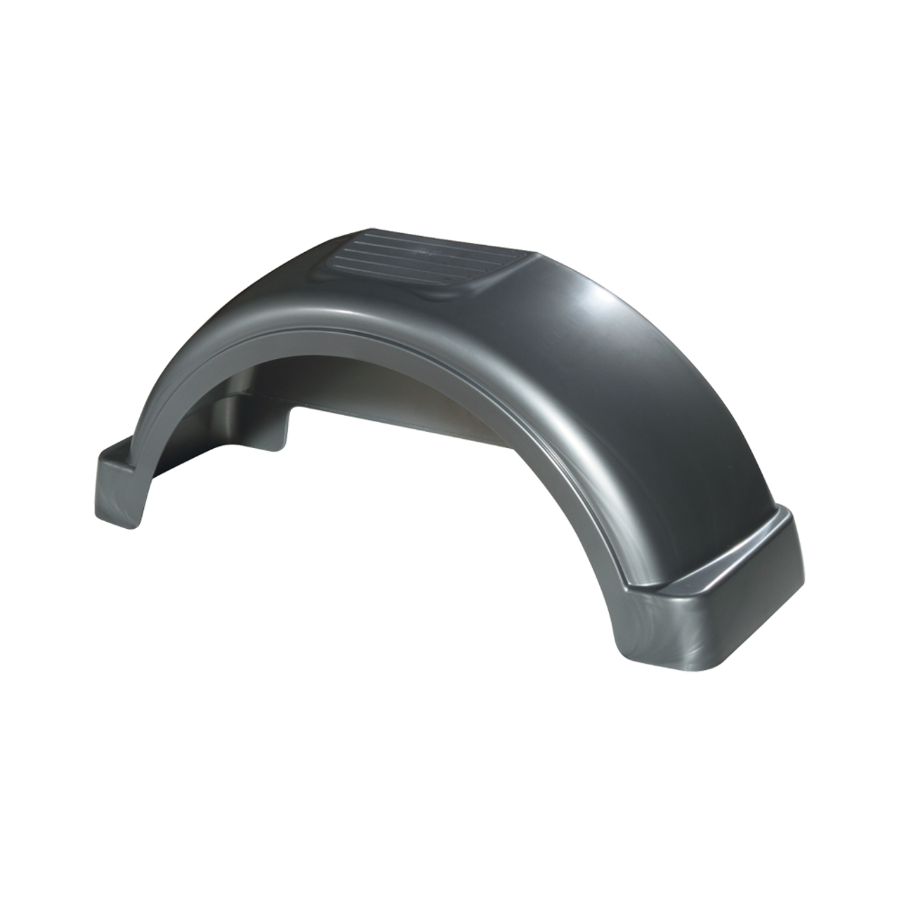 "Silver Plastic Trailer Fender - 13"" Tire Size - One Fender - 008563"
