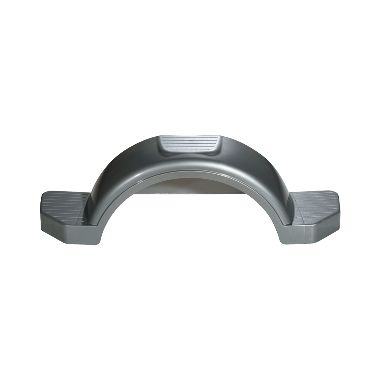 "Silver Plastic Trailer Fender - 13"" Tire Size - One Fender - 008593"