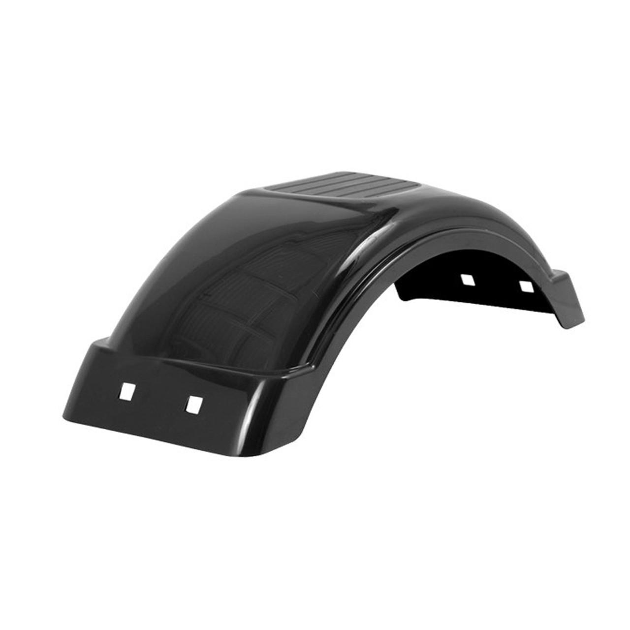"""Black Plastic Trailer Fender - 8""""-12"""" Tire Size - One Fender - 008551"""