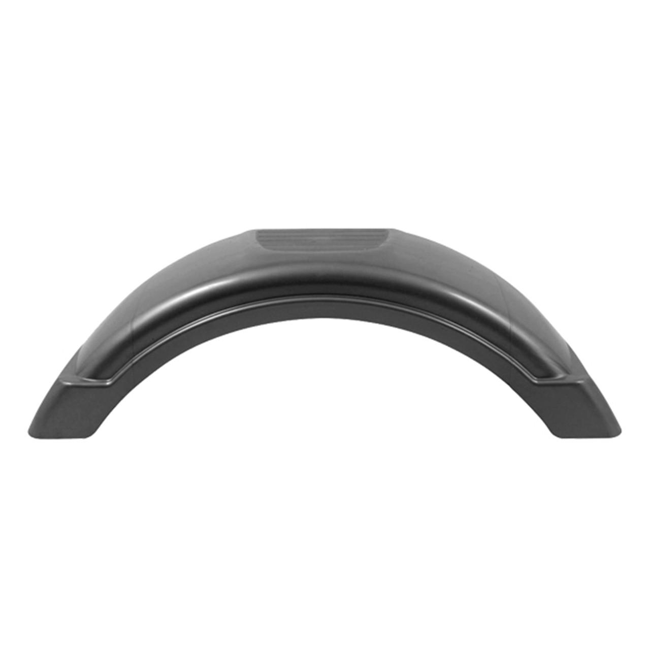 "Silver Plastic Trailer Fender - 8""-12"" Tire Size - One Fender- 008561"