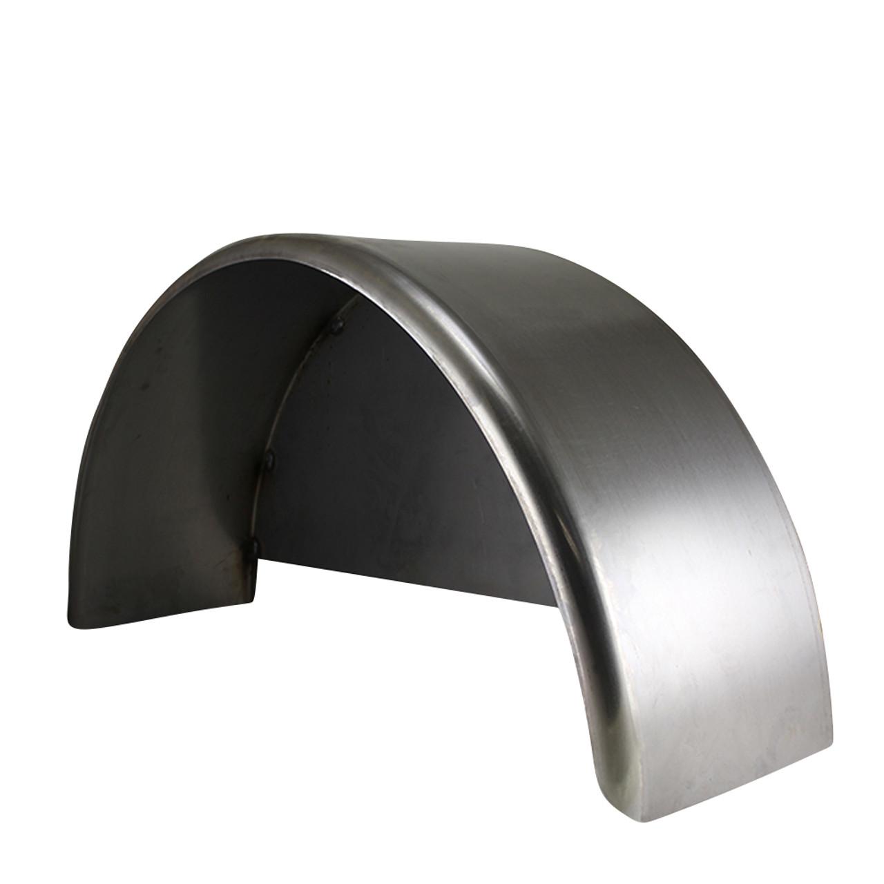 36x10 3/4 Single Axle Steel Trailer Fender w/ Back Plate Welded In - One Fender