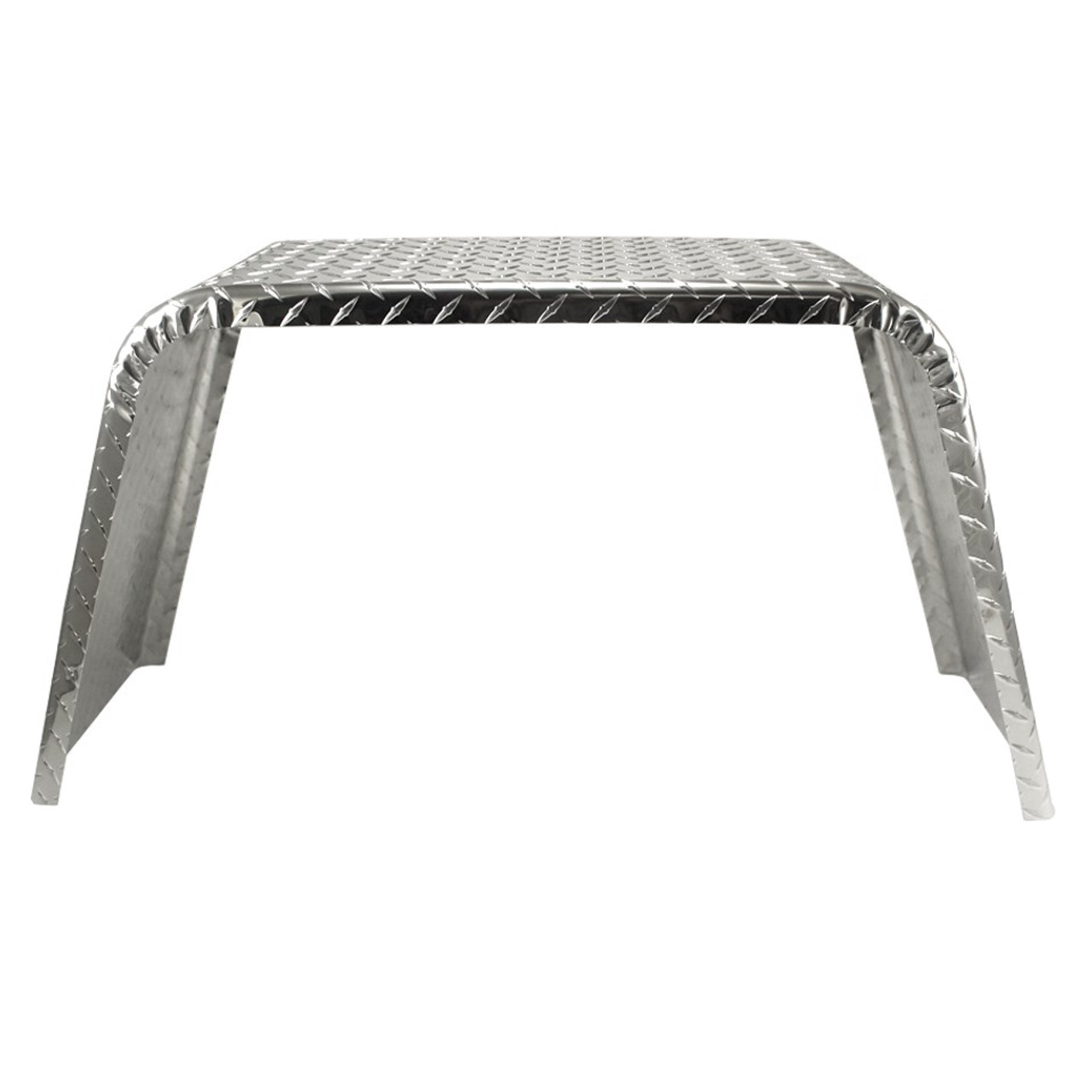 36x10 Single Axle Jeep Style Utility Aluminum Tread Plate Trailer Fender front view