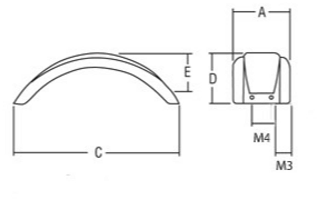 """Black Plastic Trailer Fender - 8""""-12"""" Tire Size - One Fender - 008550"""