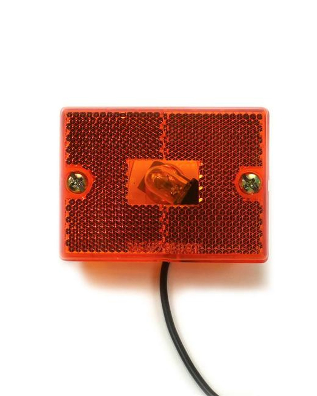 Amber stud mounted sidemarker w/ lens and housing