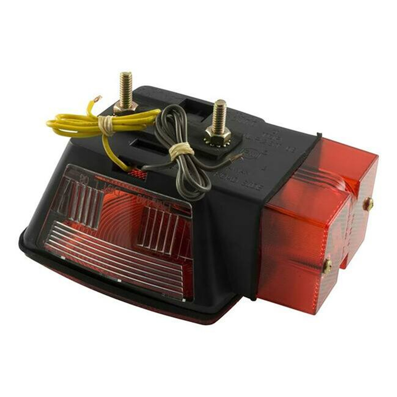 Submersible Combination Light- Red- Left Side- w/License Plate Illuminator