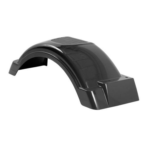 """Black Plastic Trailer Fender - 8""""-12"""" Tire Size - One Fender - 008559"""