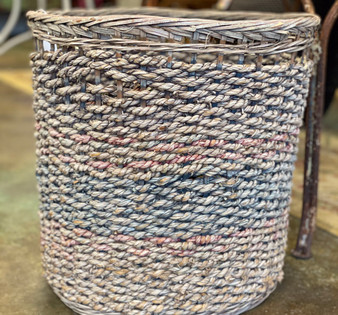 Woven Rope & Wicker Basket