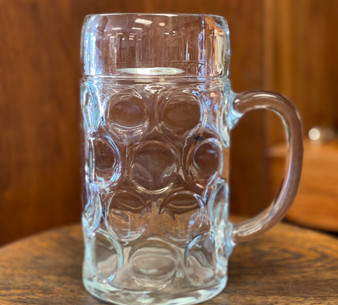 Glass Pitcher Vase with Bubble Design