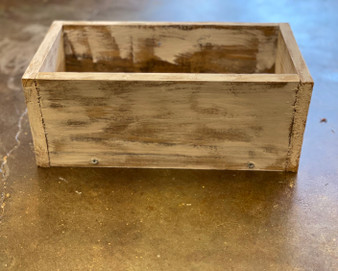 Distressed Wooden Box Planter Small