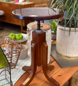 Wooden Industrial Detail Accent Table