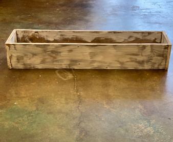 Distressed Wooden Box Planter Medium