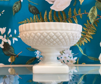 Milk Glass Footed Bowl