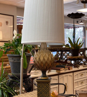 Table Lamp with Metal Frond Design