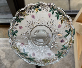 Crystal Bowl with Grapevine Design