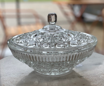 Cut Crystal Covered Candy Dish