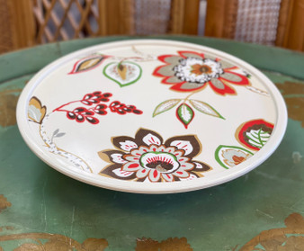Floral Cake Plate with Domed Lid