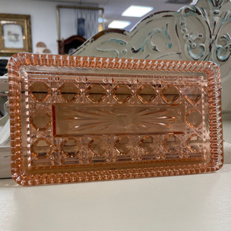 Federal Glass Pink Windsor Tray