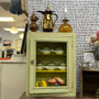 Weathered Open Front Countertop Hutch Cabinet