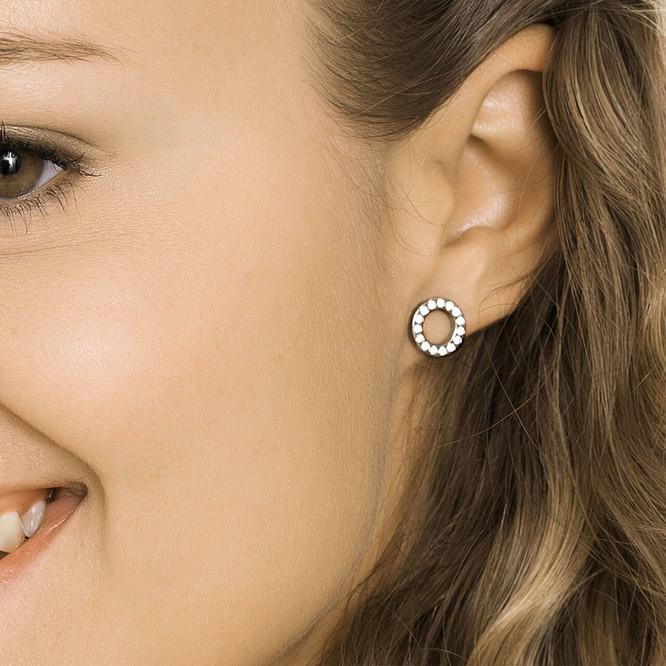 Blomdahl Brilliance Puck Hollow Earrings Blomdahlusa Com