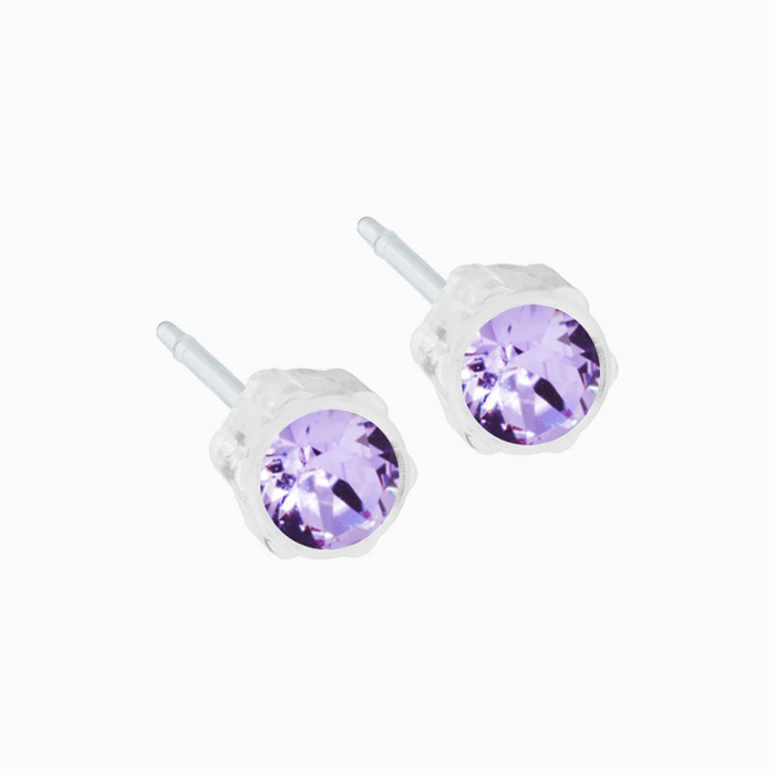 Medical Plastic 4mm Earrings