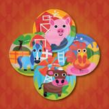 Kids Farm Plates