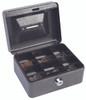 "Hercules CB0604 Key Locking Cash Box, 6"" x 4.62"" x 3"", Recycled Steel, Silver Vein Coin Cash Box"