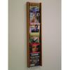 Wooden Mallet Stance 6 Pocket Wall Display, 6H, Black/Light Oak
